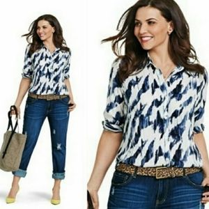 Cabi Moody Blues Button Up Top Style # 3096